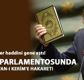 BELÇİKA PARLAMENTOSUNDA KUR'AN-I KERİM'E HAKARET!