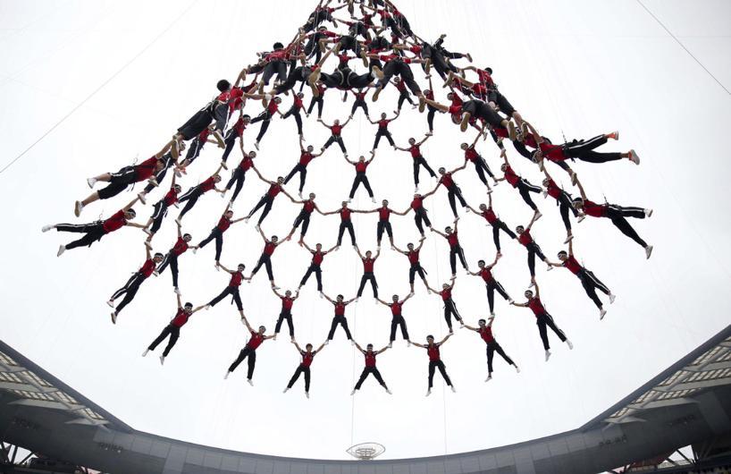 Çin'de Kalabalığın Sanata Dönüştüğü 35 Fotoğraf