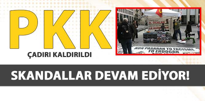 PKK ÇADIRI 3 GÜNLÜK İZNİNİ KULLANARAK KALDIRILDI